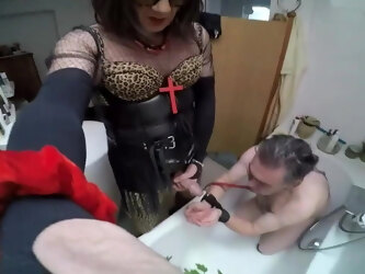 Shemale piss slave