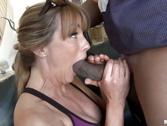 Look at this two horny guys trying to fuck that blonde slut and make a threesome. Look at this milf how innocent she seems to be and she gets a big bl