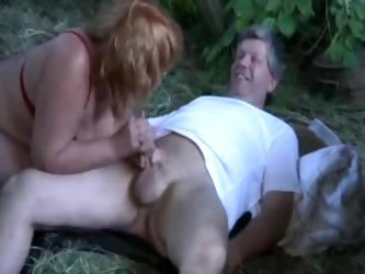 Granny Fucked Her Boss In The Barn