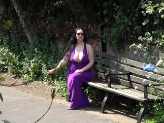 Perfect In Purple - Part One - Great Cleavage In Public