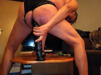 HUGE HORSEDILDO BLACK RAMBONE POV HD LONG DEEP ANALRIDING