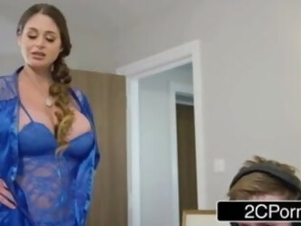Angry mom wants to fuck with her stepson