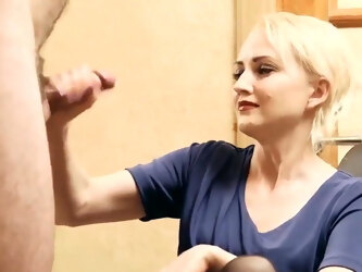 Huge Ruined Facial Cumshot Without Hands
