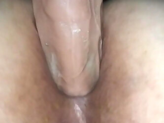 Lubed up anal ride