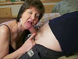 Mature slut has a thing for her neighbor in this private xxx video clip. You can see this older woman suck this cock like never before and he isn&