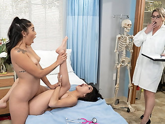 Naughty Lesbian Friends Caught In The Act By Dr. Mercer