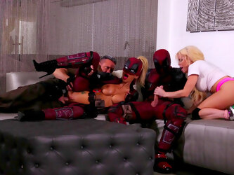 Crazy role play in super hero sexual parody