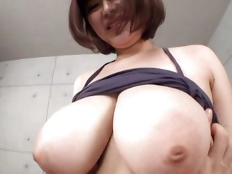 Straight from Tokio comes Marie and her incredible huge boobs. Now this Japanese whore has a pair of soft melons that makes me horny as fuck while I g