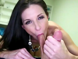 Intense POV ball sucking, blowjob and stroking with India Summer
