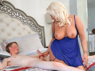 Busty mature London Rose enjoys getting fucked by a younger man