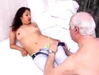 Old man banging young woman