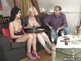 My sweet is beautiful, so beautiful that even my parents are turned on by her! When mom and dad saw her, they wanted to fuck Maria and luckily, she ag