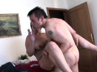 Big titted mature gets fucked while smoking