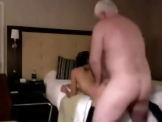 on a trip to pattaya a bargirl choose a old man to fuck hard
