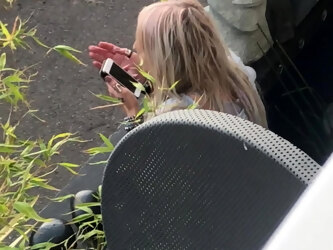 SEXY BLONDE MILF ON THE PHONE SEXY NAILS