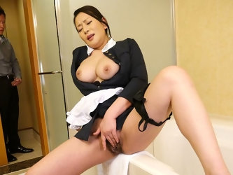 Rei Kitajima in Naughty maid Rei Kitajima caught masturbating - JapanHDV