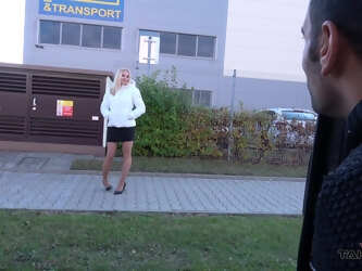 Euro blonde likes being picked up and fucked