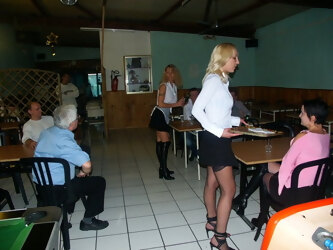 3 anal maids at restaurant