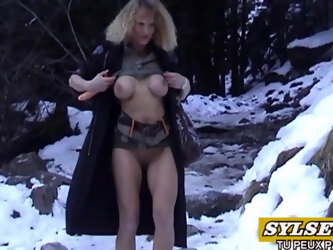 With my dildo in mountain