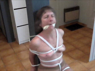 Ghis chair tied and gagged