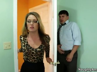Sheena Shaw's employee Anthony hasn't finished the report he was supposed to complete, so she threatens to can his ass. But Anthony pleads f