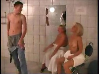 MILF AND BOY IN SAUNA