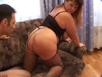 Very pretty dame with giant tits fucked by a young neighbor!