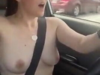 beautiful mom naked in her car