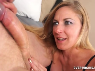 Large cock surprises blonde Madison Paige and she pleases him