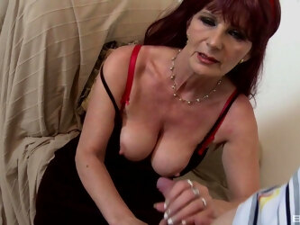 Video of mature redhead giving head and getting fucked from behind