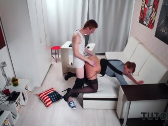 Instead Of Learning English Guy Fucks Sexy Tutor In Stockings