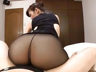 Japanese Mature Black Pantyhose Sex