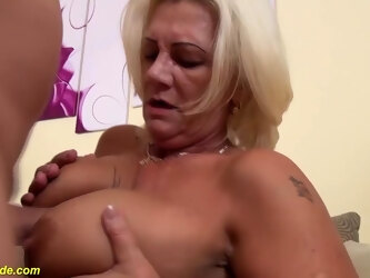 Busty big belly MILFs extreme hairy bush ass gets rough and deep fucked by boyfriends