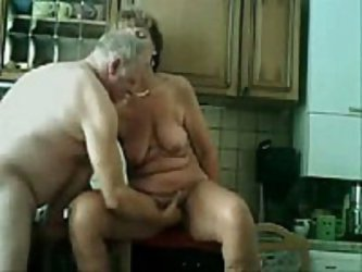 Old couple still like to have loads of fun in their sex life which you can see in this private porn movie. She gets licked and fucked in her old pussy