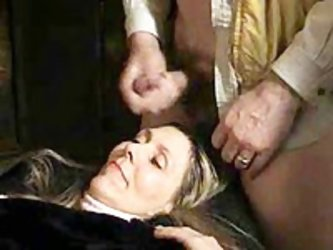 Watch me jerk my meat stick on top of my mature wife's forehead as she waits for her sweet and sticky surprise. In our private collection of amat