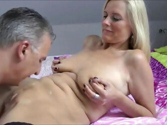 Mature beauty cuckolding her hubby.