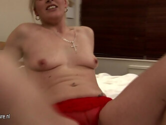 Horny Blonde Slut Playing With Her Wet Pussy - MatureNL