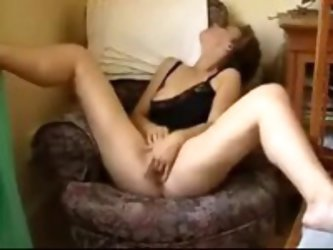 Mature wife strokes her voracious pussy, her lover gets horny watching her masturbation and puts his prick into her mouth. She sucks it with joy!