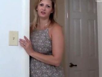ROLEPLAY – Son Caught Jerking and Mom Fucks Him for Creampie