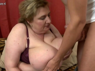 Huge Breasted Bbw Getting Fucked By Her Toy Boy - MatureNL