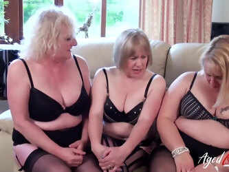 Groupsex with busty mature ladies enjoying adventure featuring hard dick