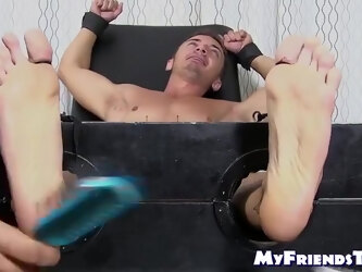 Amateur Bound And Tickle Tormented By Hunk And Mature Dom