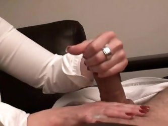 Home made handjob compilation of my hot wife rubbing my big cock with her sexy hands. She rubs it slowly until I blow my load. We decided to share it