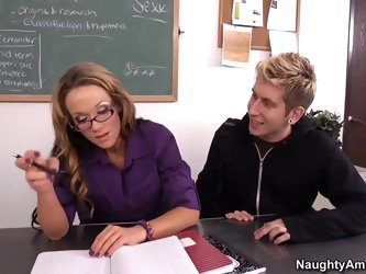 Danny notices that his teacher, Professor Nikki Sexx, has had low energy the entire week, so he confronts her about it. Embarrassed, she eventually te