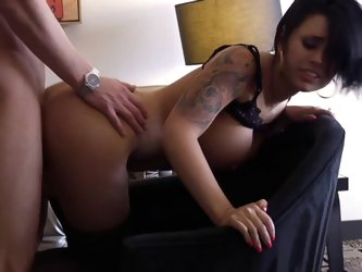 Eva Angelina danced at my bachelor party last night. Unfortunately, my friends got me too drunk to enjoy it. But that's OK, because I have her no
