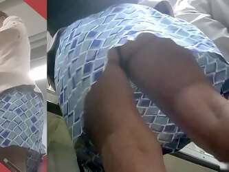 Up Milf Skirt at Supermarket Checkout (with face)