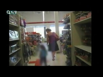 upskirt mom in store