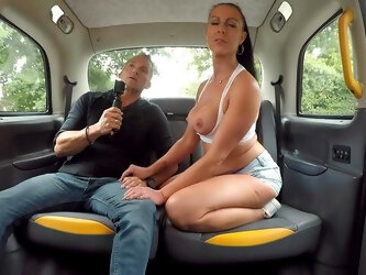 Deep taxi hardcore sex with a married woman needy for cock