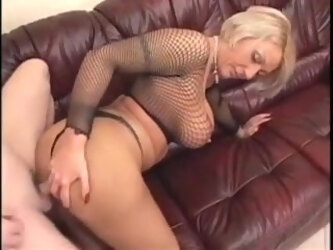 Hot Mature Blonde Fucks a Younger Man