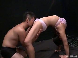 Soft oral porn for a flexible amateur Japanese with nice tits